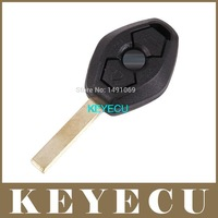 Replacement Shell Remote Key Case Fob 3 Button for BM Z3 Z4 X3 X5 E36 325i 3 5 7 525i 330i Uncut HU92 Blade BackSide No Words