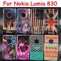 For Nokia Lumia 830 US UK Flag Aeolian Bells Stripe Style Soft Phone Back Case Cover