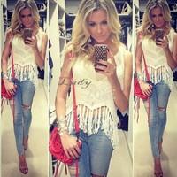 New 2014 Fashion women crop top Camis woman's tops crochet blusas femininas tank top 5 Colors b6 CB033267