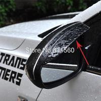 Side Door Mirrors Rearview Sun Rain Guard Shield Deflector for 2014 Chevrolet TRAX TRACKER