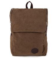 2015 New High-Density Backpack Travel Canvas Mix Leather Bag Men Rucksack School Satchel Ultra-large 1002#