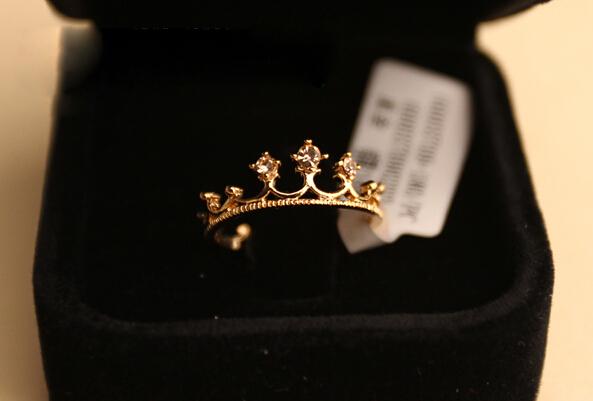 nz290 Free Shipping New Fashion Flash Drill Crown Ring Jewelry Shiny Elegant Beauty Ring wholesale(China (Mainland))