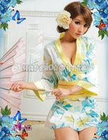 Sexy Fancy Lingerie  Kimono Cosplay Costumes Robe Dress Nighty