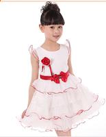 Retail! 2015 summer baby dress flowers girl dress, dacing dress, kids party dress,  free shipping Q15