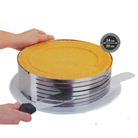 Adjustable Stainless Steel Round Layer Cake Ring Slicer Kit Mousse Slicing Mould Kitchen DIY Tool