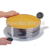 Adjustable Stainless Steel Round Layer Cake Ring Slicer Kit Mousse Slicing Mould Kitchen DIY Tool