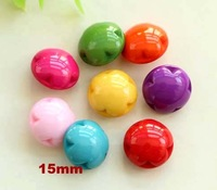(Can choose colors), Color flower plastic buttons, Shank sewing button for shirt, Scrapbooking (ss-a627-a231)