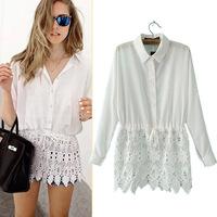 #YZX-YS Women Print Blouse Spring Women Clothing Women's Turn-down Collar Long Sleeve Blouses Shirts Bodycon Shirt