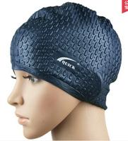 9 colors New Brand Silicone Waterproof Swimming Swim Cap Pool Swimwear Hat Women Men Long Hair