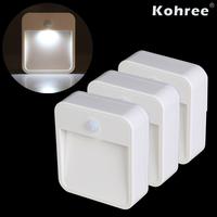 3PCS/Lot  Kohree Battery-Powered Motion-Sensing LED Stick-Anywhere Nightlight Wireless, Energy-Efficient LED