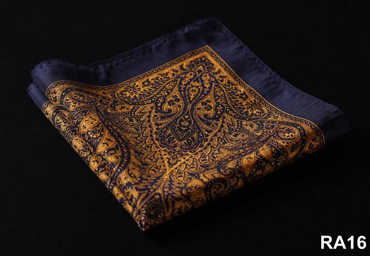 2015 Newest Paisley Silk Pocket Square Handkerchief Mens Pocket Hanky Chest Towel Free Shipping 1 piece(China (Mainland))
