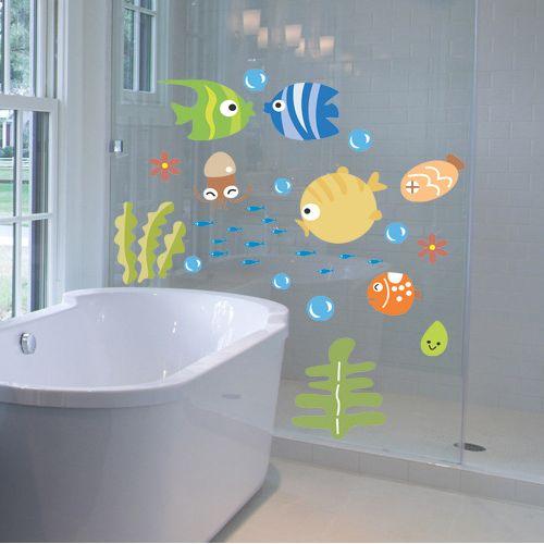 Decoracion Baño Tropical:cuarto de baño de pared calcomanía – Compra lotes baratos de cuarto