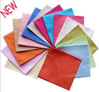 15PCS/LOT high quality men's handkerchief  womens pure Color solid color 100% cotton hanky women's pocket square ladies 30*30cm
