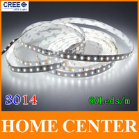 5M SMD 3014 300Leds 60leds/m LED strip light DC 12V white warm white red green bule yellow with tracking number