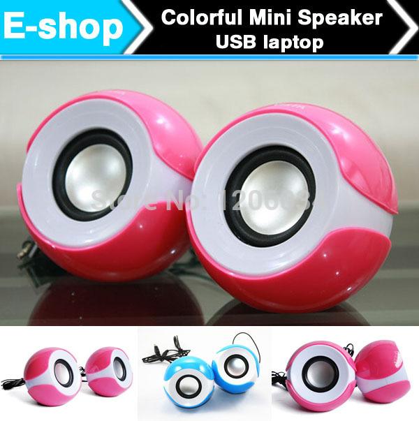 Big eyes PC Mini Music Loud Speaker Portable Speakers For iPhone/ iPod /MP3 /MP4 Universal Speaker 50pcs/lot(China (Mainland))