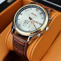 With Calendar Luxury  YULAN PU Strap Analog Display Date Men's Quartz Watch Casual Watch Men Wristwatch 20pcs/lot  shipping DHL