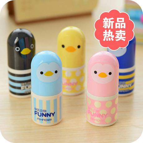 Купить Изготовление под заказ  3215 lovely  Sweet Cartoon Duck Penguin Stationery Correction Fluid ~Random Color~ 1PC None