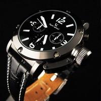 Hot Sale Stylish Sports Leather Clock watches Men Stainless Steel Business Quartz Watch ,Classic Analog Wrist Watch#10 SV006812