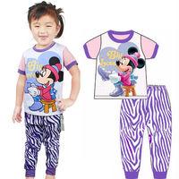 new summer 2014 fantasia cartoon pijamas kids short sleeve toddler baby pajama sets retail children pyjamas sleepwear suit