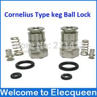 "New Stainless  Cornelius Type keg Ball Lock Post & Poppet Female Thread Gas + liquid 19/32""-18"