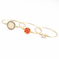 Fashion fashion accessories exquisite pearl brief decorative pattern circle bracelet set