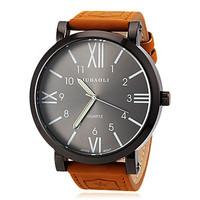 relogios masculinos 2015 Watches Men Luxury Brand Military Men Watch Big Dial Leather Strap Watches Quartz Watch reloj hombre
