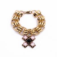 Fashion fashion accessories personalized vintage cross pendant women's bracelet