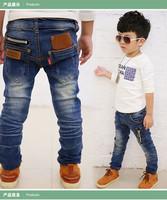 Retail 1Pc Fashion New 2015 Spring Autumn Children Brand Casual Denim Blue Pants Baby Kids Long Trousers Boys Jeans TZ70