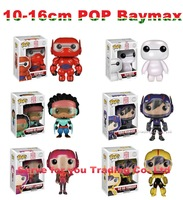 2015Hot Funko Pop Baymax Series Action Figures Toys.Big hero 6 Cartoon Anime Bobble Head Kids gift,6 style can choose with box