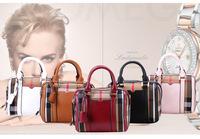 2015 fashionable woman's bag Stitching female bag Tassel element woman's bag The pillow pack shoulder bag W095