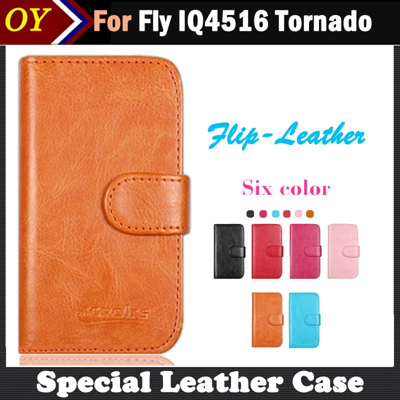 В Наличии! Fly IQ4516 Торнадо, Шесть Цветов Люкс Флип Кожа Телефон Дело Для Fly IQ4516 Случае С Слоты Для Карт Стиль телефоны в одессе fly iq 4403