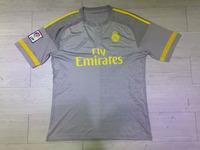 New 2015 2016 Real Madrid Jersey KROOS Ronaldo Real Madrid James Soccer Jersey Grey15 16 Football Shirt Camiseta De Futbol