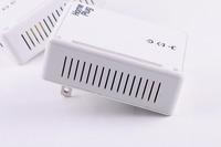Free Shipping 500mbps Powerline Adapter Home Plug Qualcomm 6410 Chipset Mini Size English Manual US/EU Plug Ethernet & IPTV 2pcs