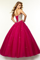 2015 Princess A-line Prom Dresses Customized Organza Special Occasion Dress Sweetheart Evening Gowns