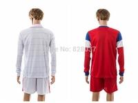 New Fashion Uniforms 2014 World Cup HOWARD BEASLEY DEMPSEY DONOVAN BECKERMAN JOHNSON White Red Soccer Jerseys Long Sleeve Jersey