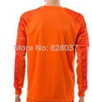 New Fashion Thailand Fabregas #1 Cech Diego Costa Hazard Orange Soccer Jersey 2014-2015 Long Sleeve Goalkeeper Jerseys