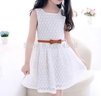 2015 summer new models Korean children lace vest dresses girls princess dresses children's girls dresses two colors