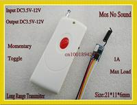 Micro Wireless Switches DC 3.6V 3.7V 4.5V 5V 6V 9V 12V Micro Motor Remote Controller Mini Mos No Sound Receiver Transmitter 433
