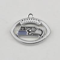 YiWu Stylish Custom Enamel  National Football Team Logo Seattle Seahawks Charms