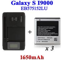 3 x 1650mAh EB575152LU Battery +LCD Universal Charger fr Samsung Galaxy S i9000 GT-i9000 i9003 I9001 i589 i897 Bateria Cargador