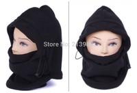 FREE SHIPPING 50pcs/lot Thermal Fleece Balaclava Hood Police Swat Ski Bike Wind Proof Face Mask Neck Warmer Hat Mask