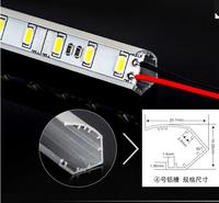 LED Bar 5730 12V Factory Wholesale 50CM DC 12V 36 SMD 5730 LED Hard Rigid LED Strip Bar Light with  V Aluminium