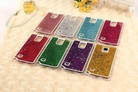 10pcs Flowing Liquid Sand Glitter Quicksand Case Capa for Samsung Galaxy Note 4 N9100 Bling Star,free shipping