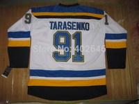 Wholesale Hockey St. Louis 91# Vladimir Tarasenko white jerseys, please read size chart before order