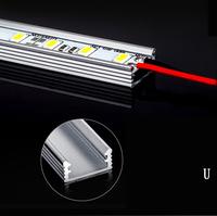 7W 5630 5730 LED Bar U Groove Light 50CM Non-Waterproof 36LED LED Rigid Strip DC 12V 5630 LED Tube Hard LED Strip