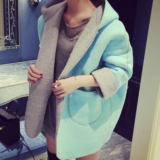 2015 Full Sleeve Winter Open Stitch Fur Jackets European And American Women s Fashion Streetwear Desigual