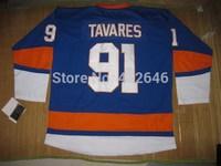Wholesale Hockey Islanders 91# John Tavaresblue jerseys, w/ C patch, please read size chart before order