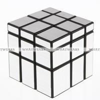 Free Shipping 3x3x3 1Pcs Mirror Blocks Silver Shiny Magic Cube Puzzle Brain Teaser IQ Kid Toy 4018-905