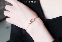 Rose gold bracelet female 18k thimbler buckle color gold titanium fashion jewelry