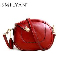 Smilyan women genuine leather small shoulder bag messenger bags purses designer handbags high quality fashion bolsas femininas